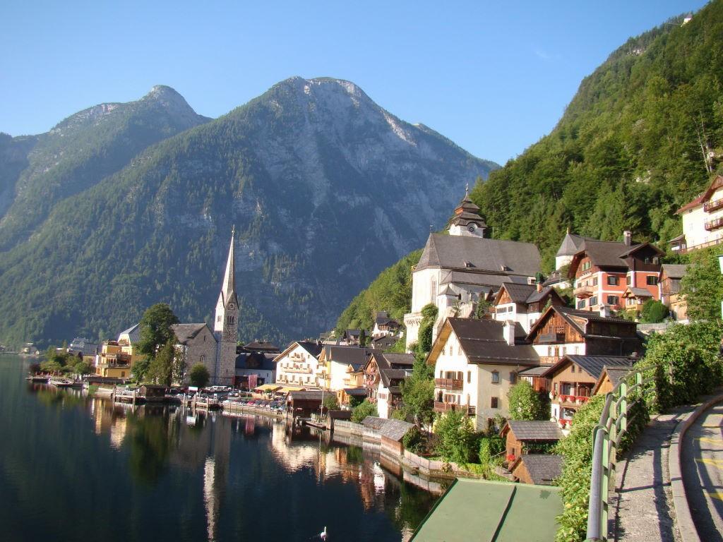Salzkammergut, Áustria, Hallstatt,The most beautiful lakes of Salzkammergut