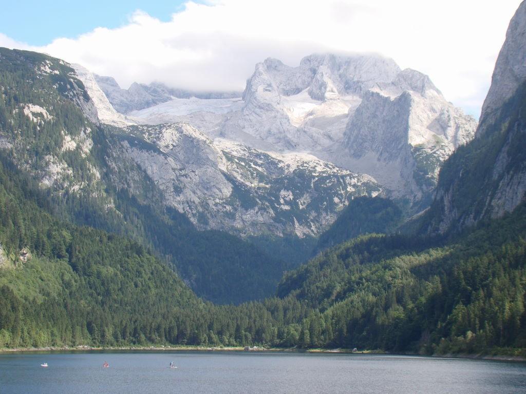 Salzkammergut, Áustria, Lago Gosau, Glaciar Daschstein