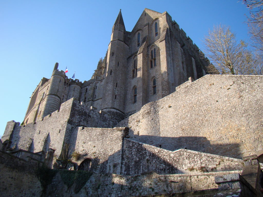 Tips of Mont St Michel in France