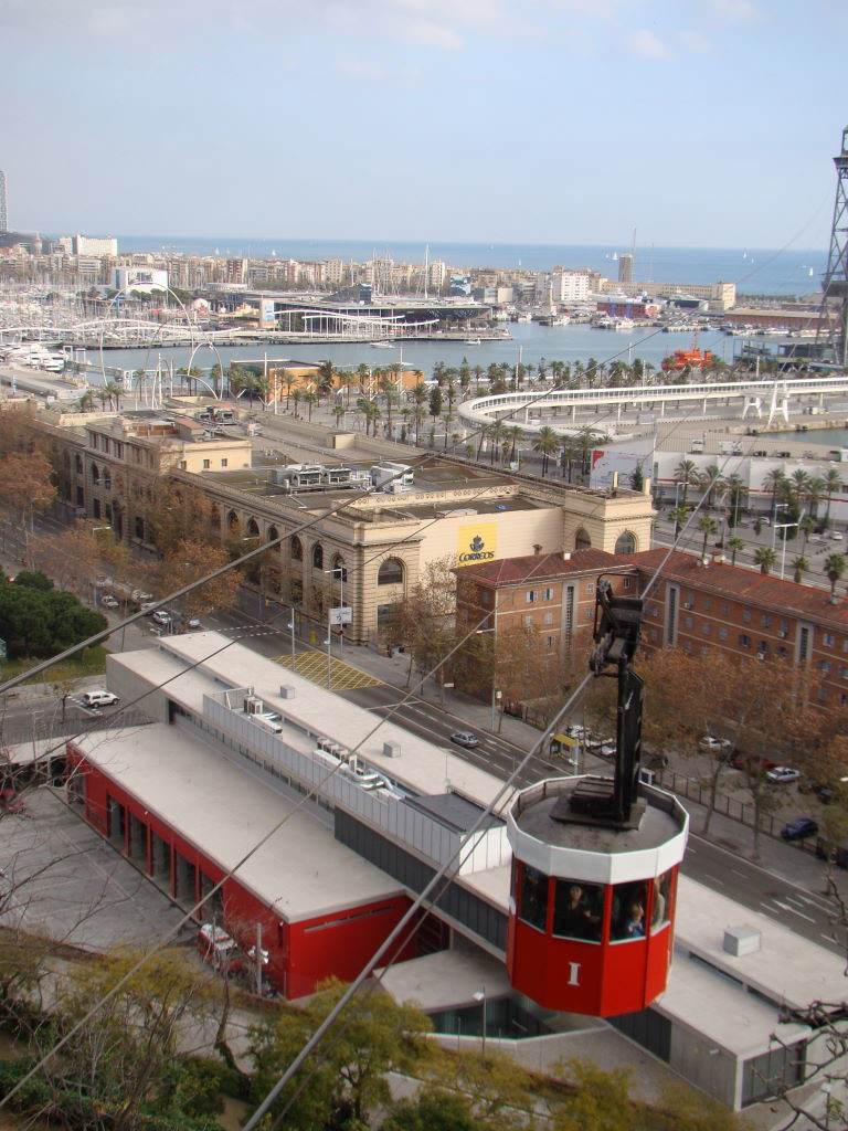 Barcelona seen from the first stop of the Montjuic Cable Car- Christmas at Barcelona