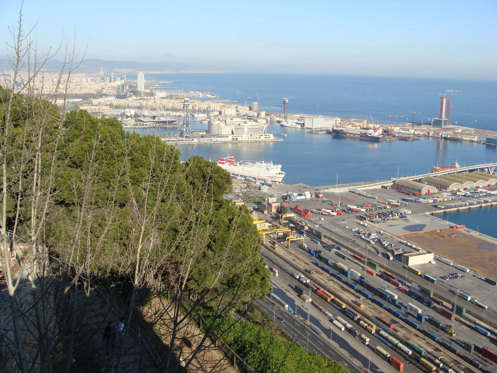 View from Castell Montjuic - Christmas at Barcelona