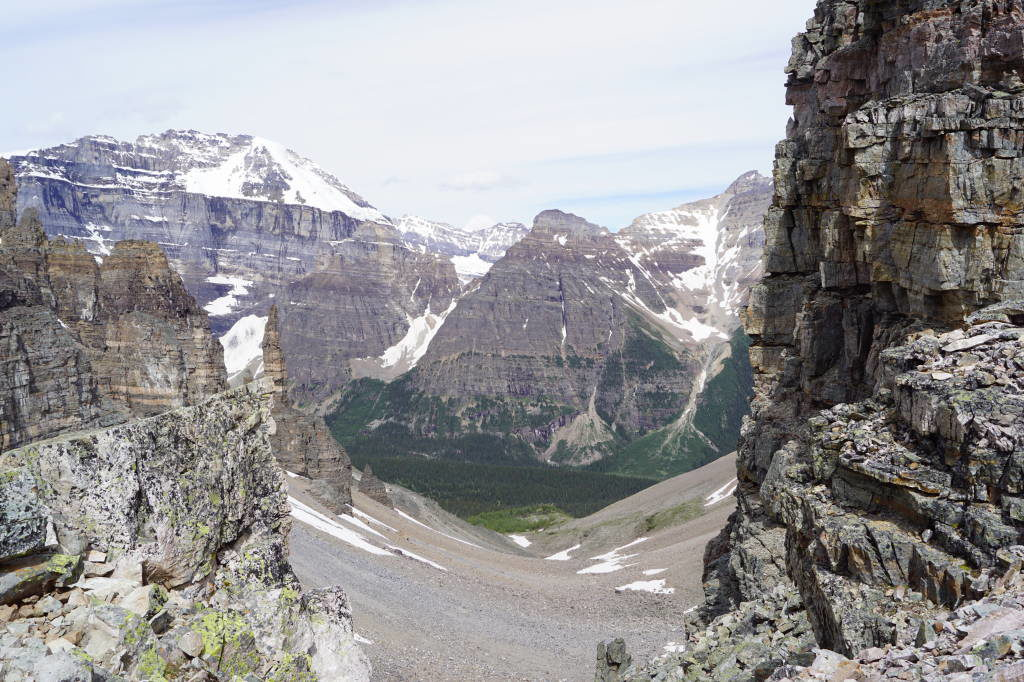 Paradise Valley visto do Sentinel Pass - Lago Moraine Canadá - Moraine Lake Canadá