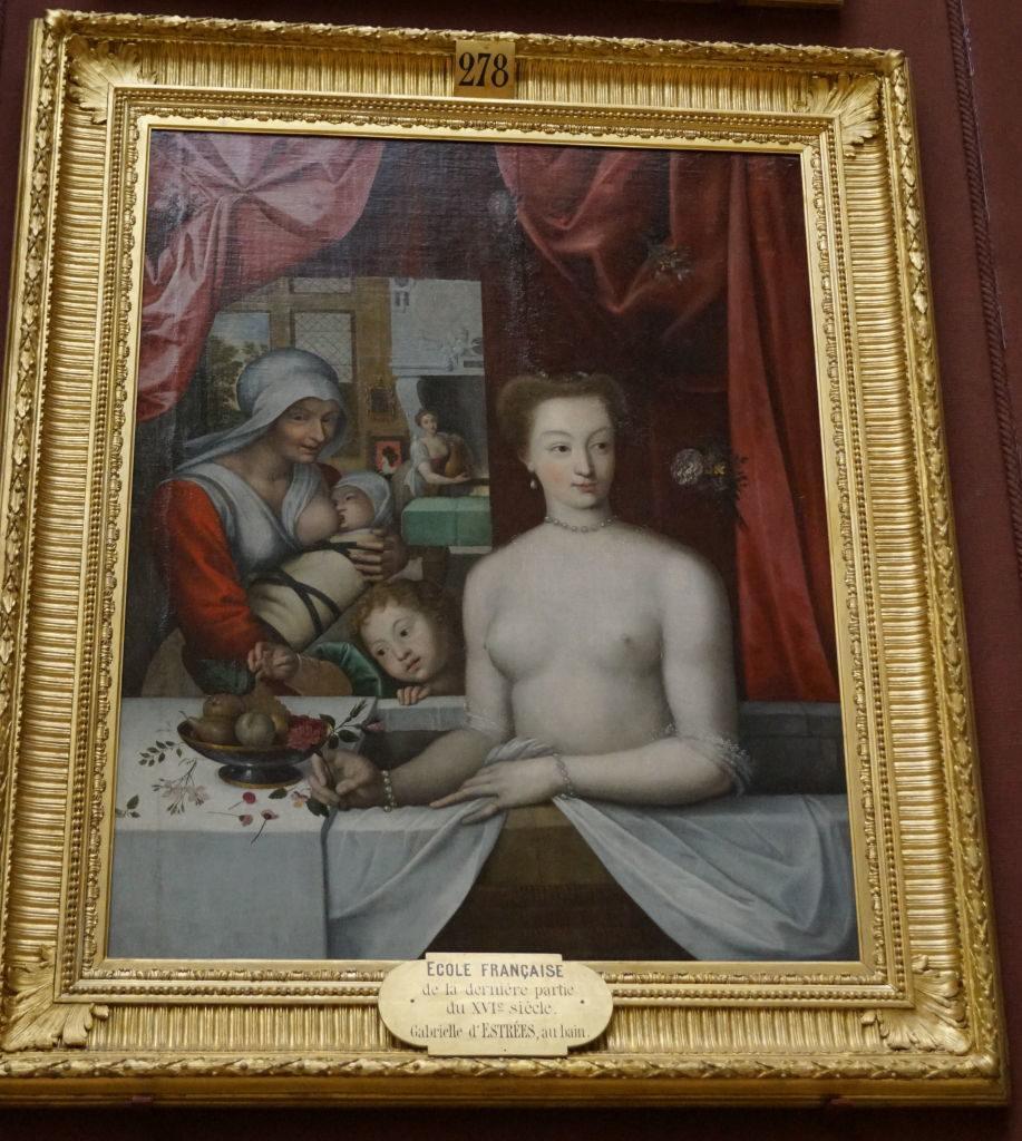 Gabrielle d'Estrées no Banho - Galeria das Pinturas - O Castelo de Chantilly França vale a pena?