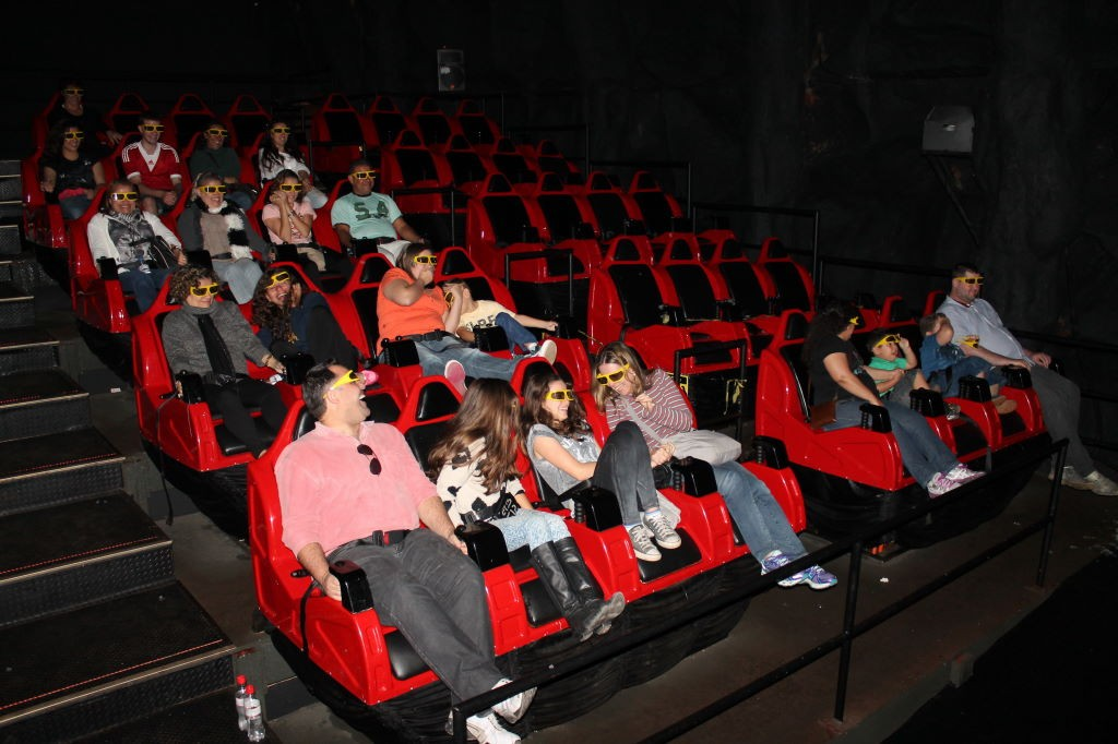 Durante a projeção no Cinema 7D