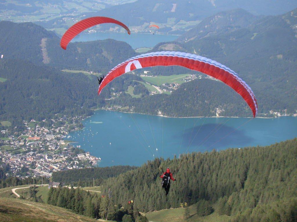 Wolfgangsee visto do topo da montanha em St. Gilgen - O que fazer na Áustria? Salzkammergut!