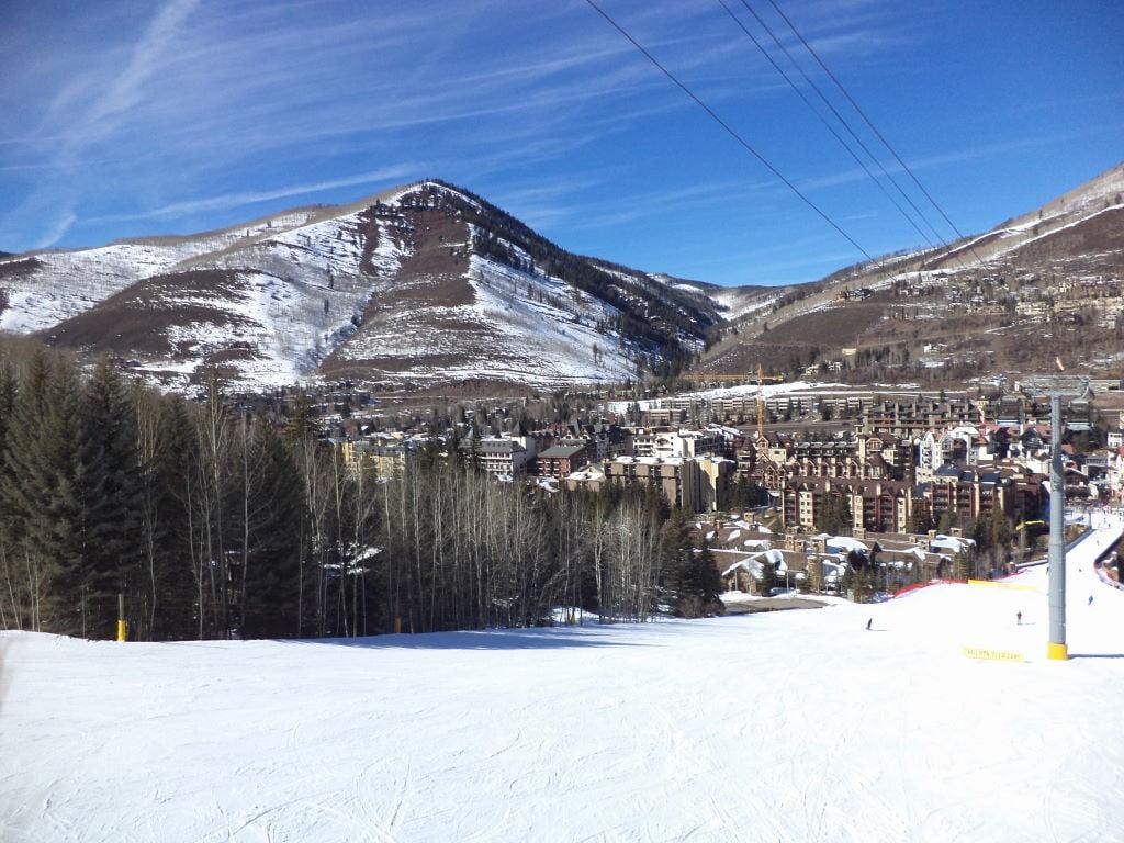 Vail vista da pista de esqui - Estação de esqui Vail Colorado EUA: - Dicas