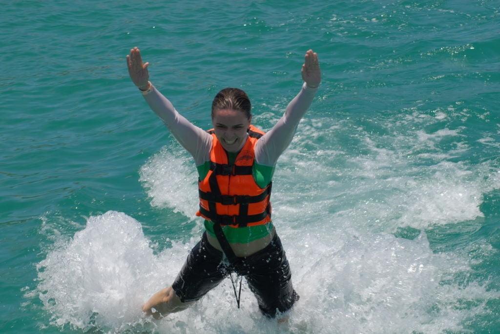 Foot Push - Nadar com golfinhos em Isla Mujeres - Riviera Maia e Isla Mujeres - O que fazer