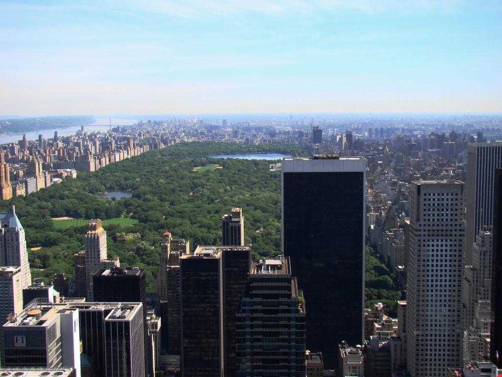 Central Park visto do Top of the Rock - Principais Pontos Turísticos de Nova York