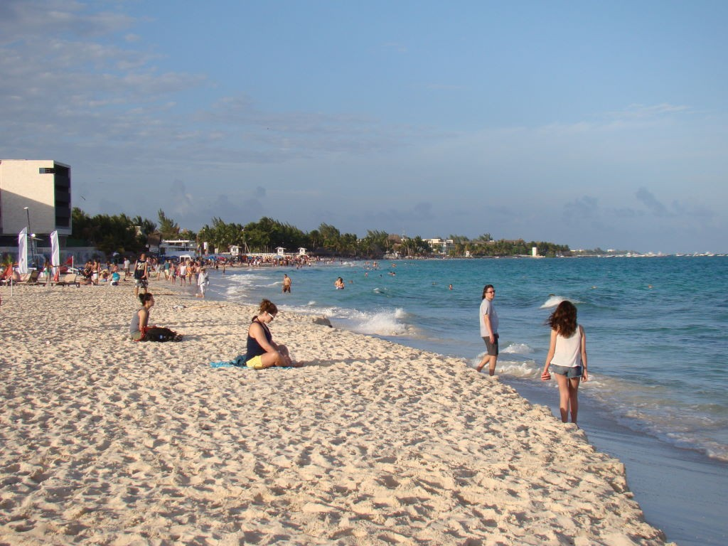 Praia Mamitas em Playa del Carmen na Riviera Maia