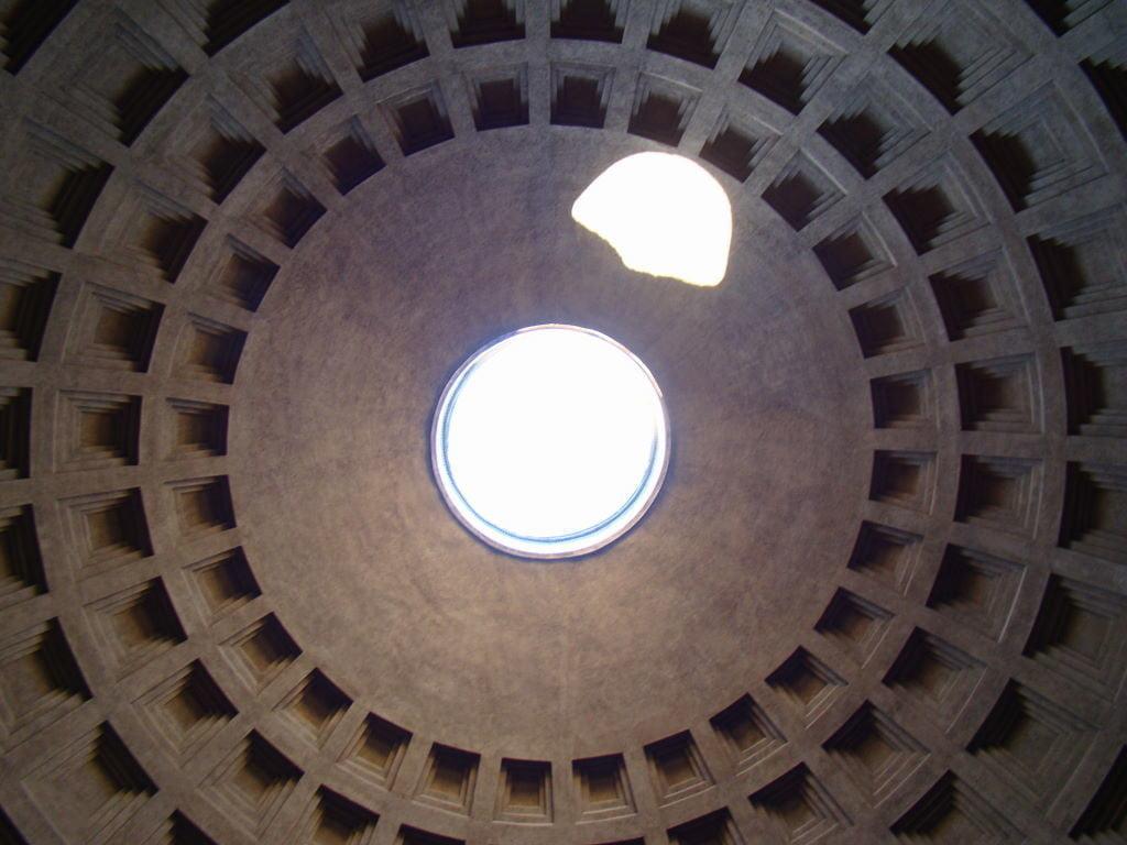 Teto do Pantheon - Pontos Turísticos de Roma - O que fazer em 3 dias
