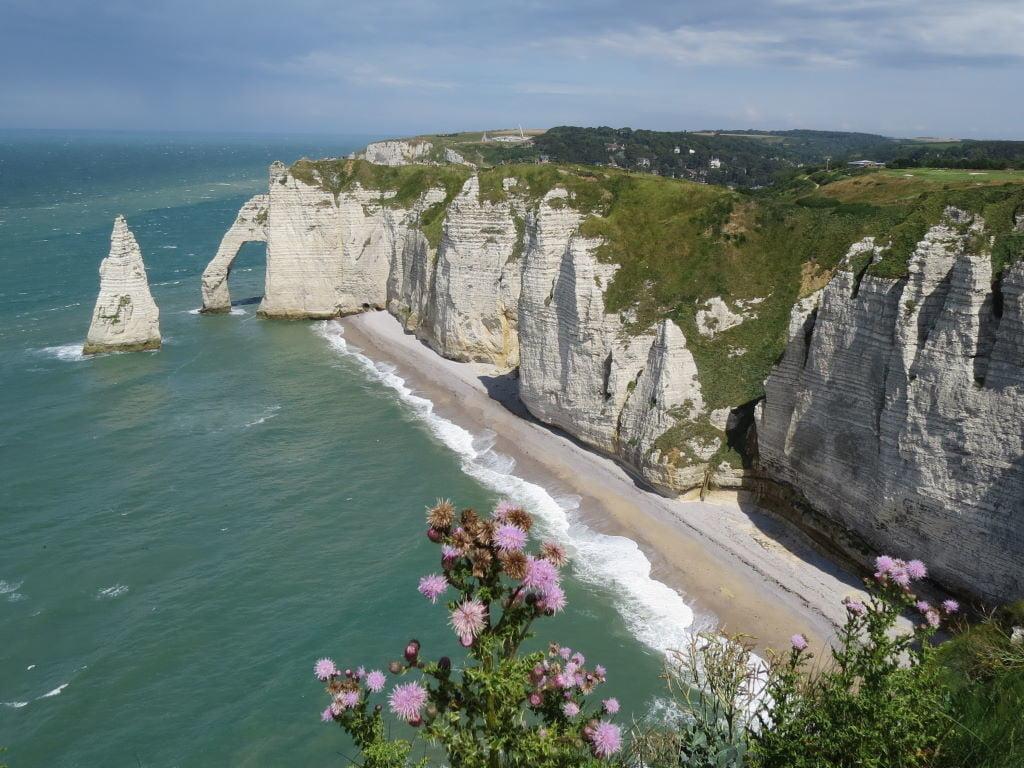 Étretat e as mais belas falésias da França