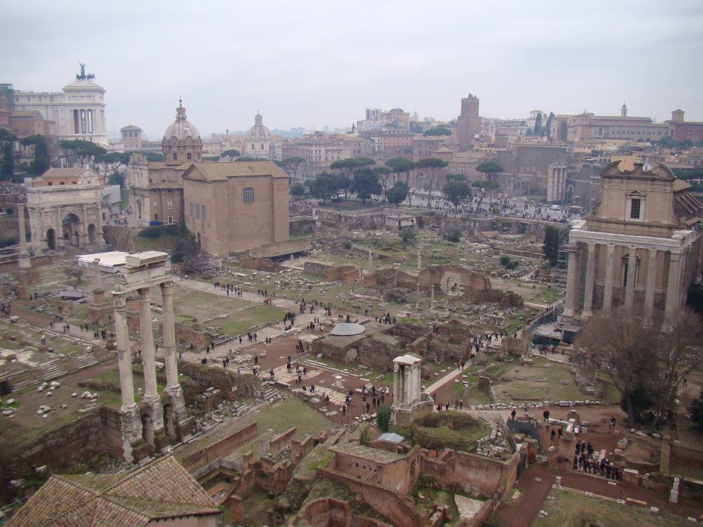 Fórum Romano visto do Orto Farnesiano do Palatino - Pontos Turísticos de Roma - O que fazer em 3 dias