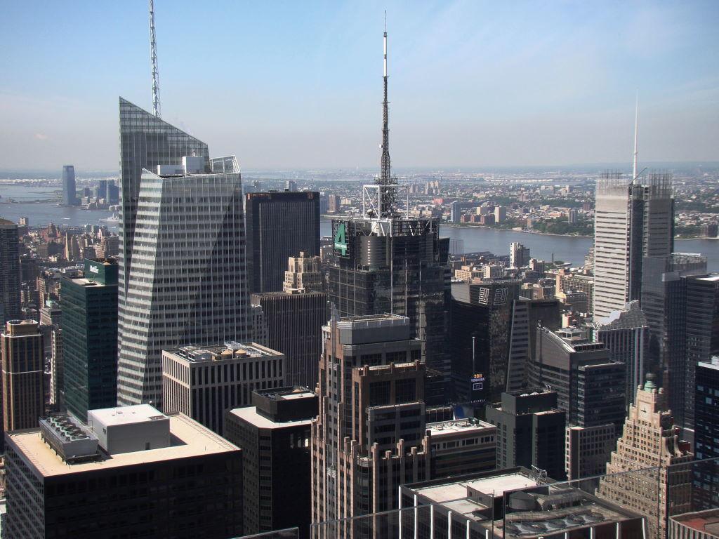 Região da Times Square vista do Top of the Rock - Principais Pontos Turísticos de Nova York