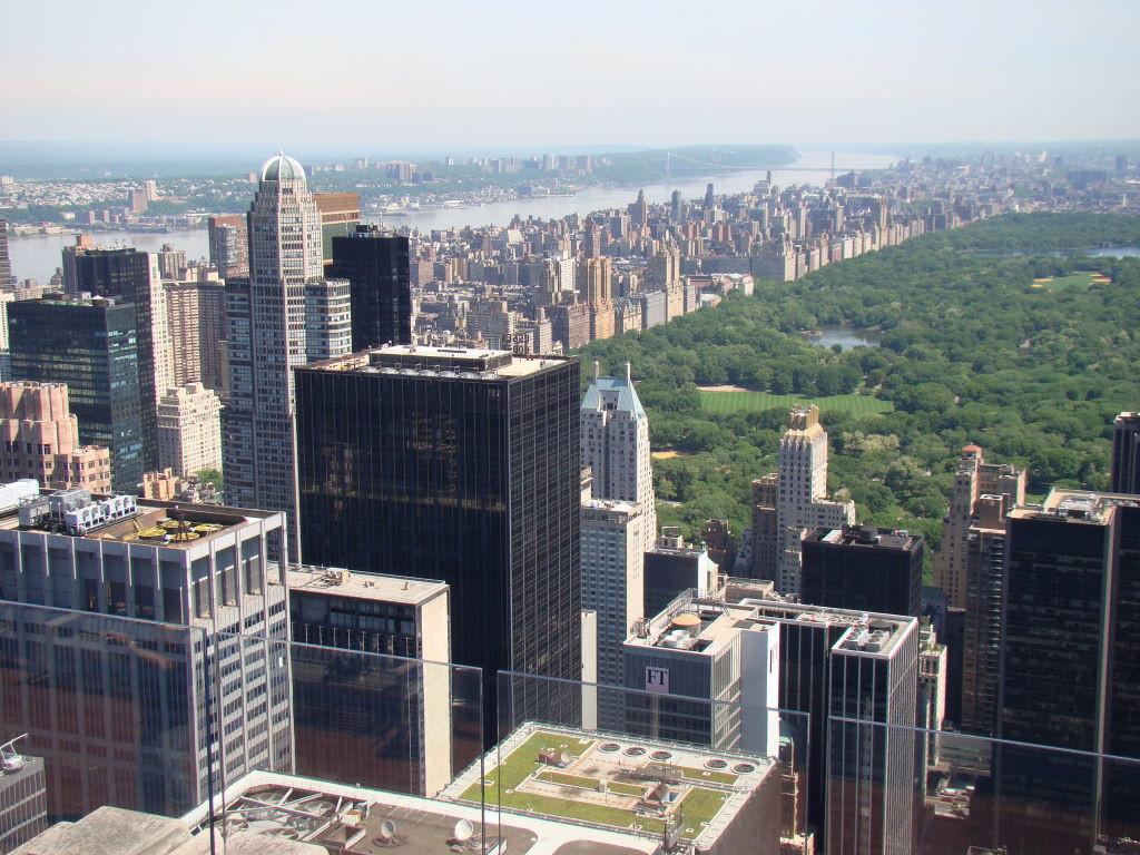 Rio Hudson visto do Top of the Rock - Principais Pontos Turísticos de Nova York
