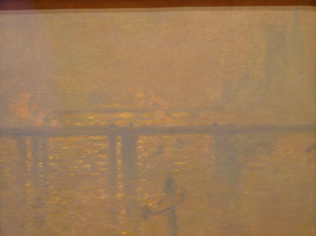 Charing Cross Bridge de Claude Monet no Museu Thyssen-Bornemisza - Museus em Madrid: Prado, Thyssen e Reina Sofia