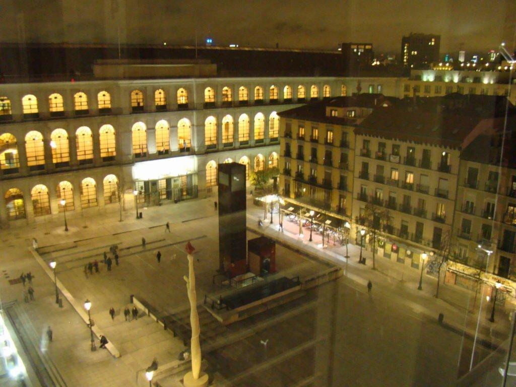 Vista do elevador do Museu Reina Sofia - Museus em Madrid: Prado, Thyssen e Reina Sofia