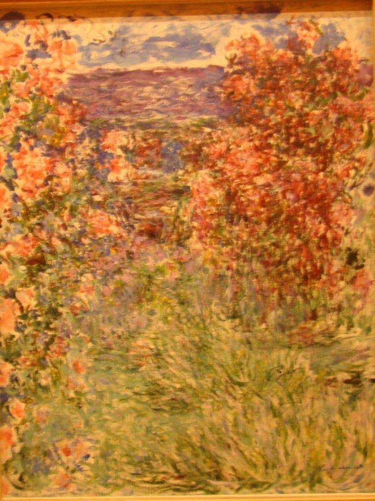 The House Among the Roses de Claude Monet  (1925) no Museu Thyssen-Bornemisza  - Museus em Madrid: Prado, Thyssen e Reina Sofia