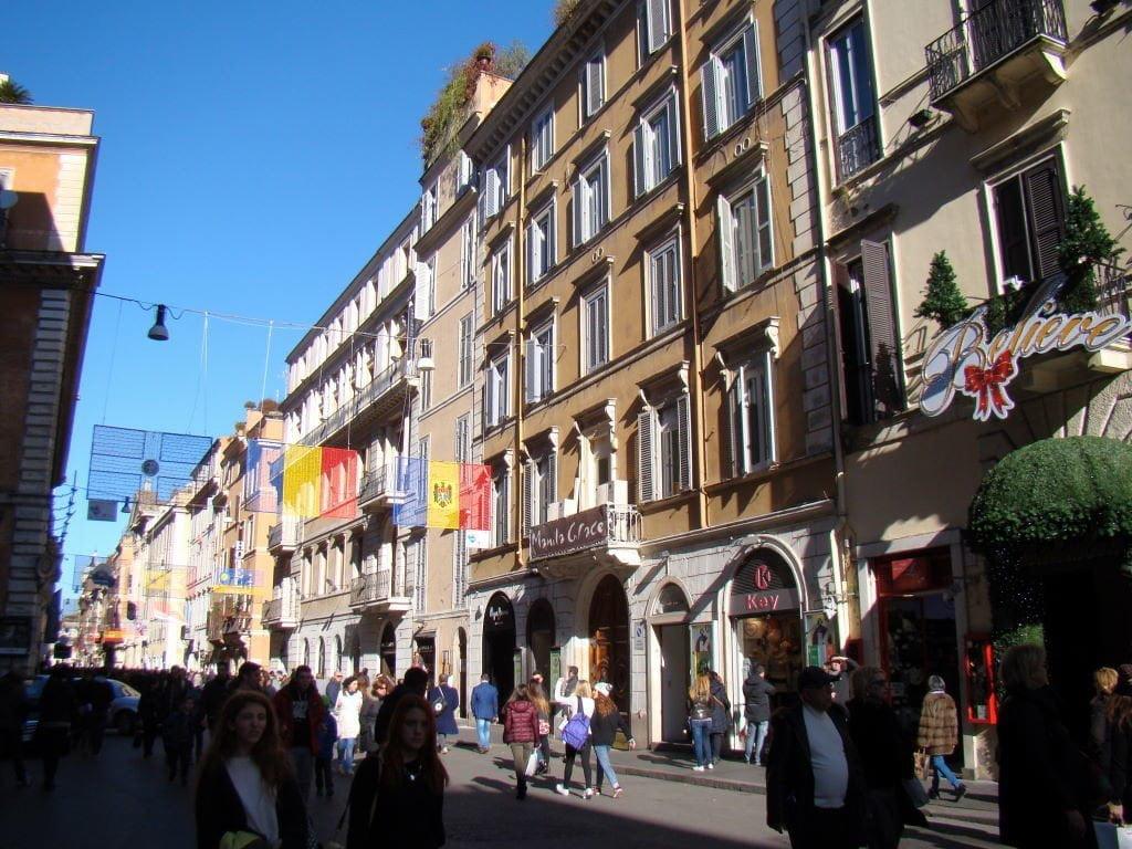 Via del Corso -Pontos Turísticos de Roma - O que fazer em 3 dias