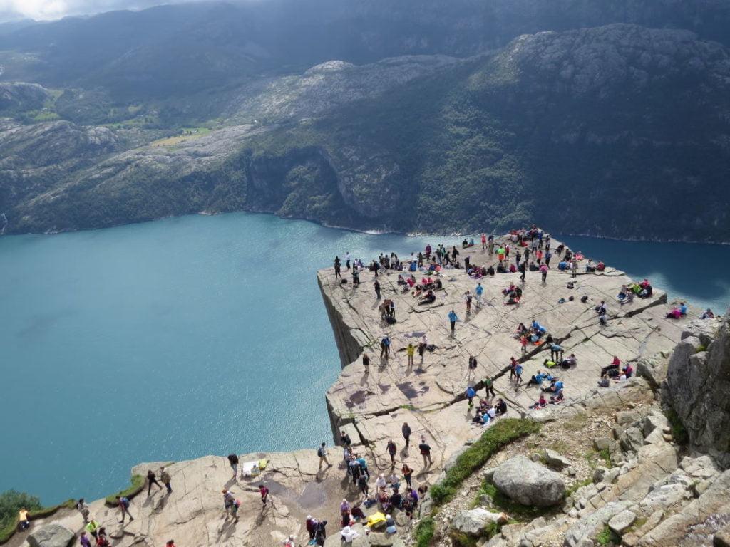 Pulpit Rock na Noruega - Para onde viajar em julho na Europa