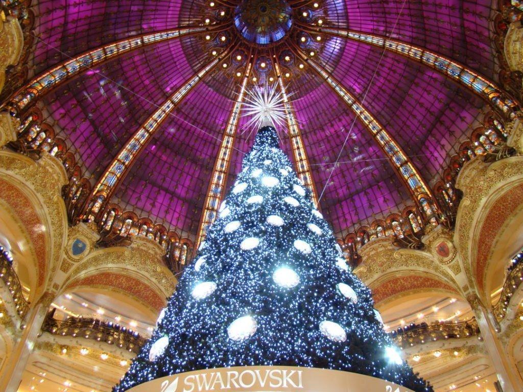 Galeries Lafayette - Natal em Paris - Inverno na Europa - Onde ir e o que fazer