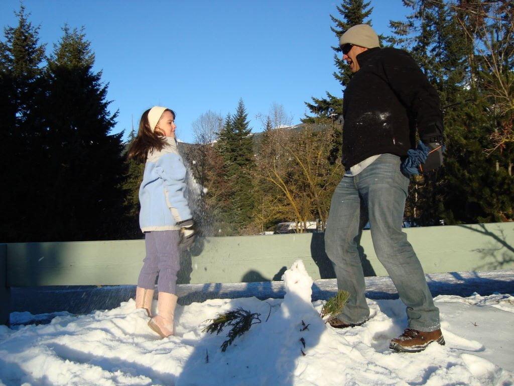 Guerra de neve - O que fazer em Whistler Canadá