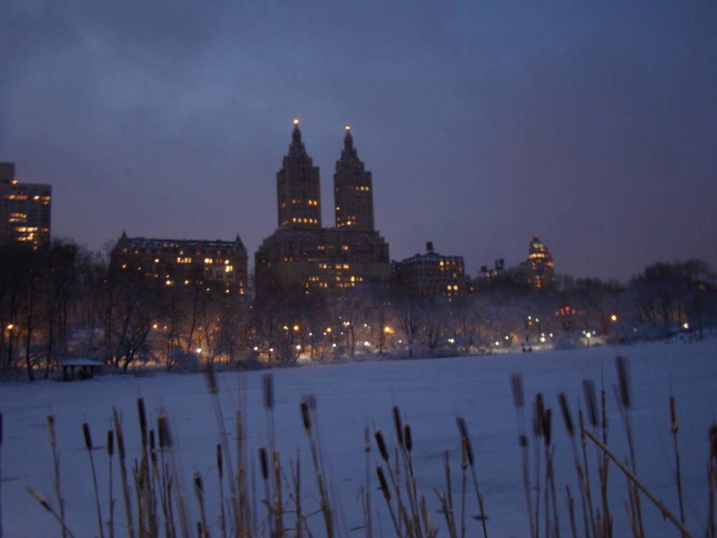 The Lake no Central Park - O que fazer em Nova York no inverno - Com neve!