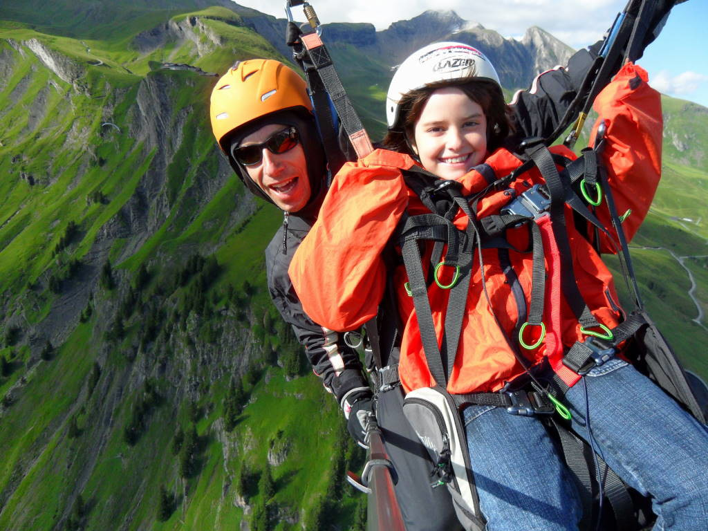 Voo duplo de parapente na Suíça - Grindelwald