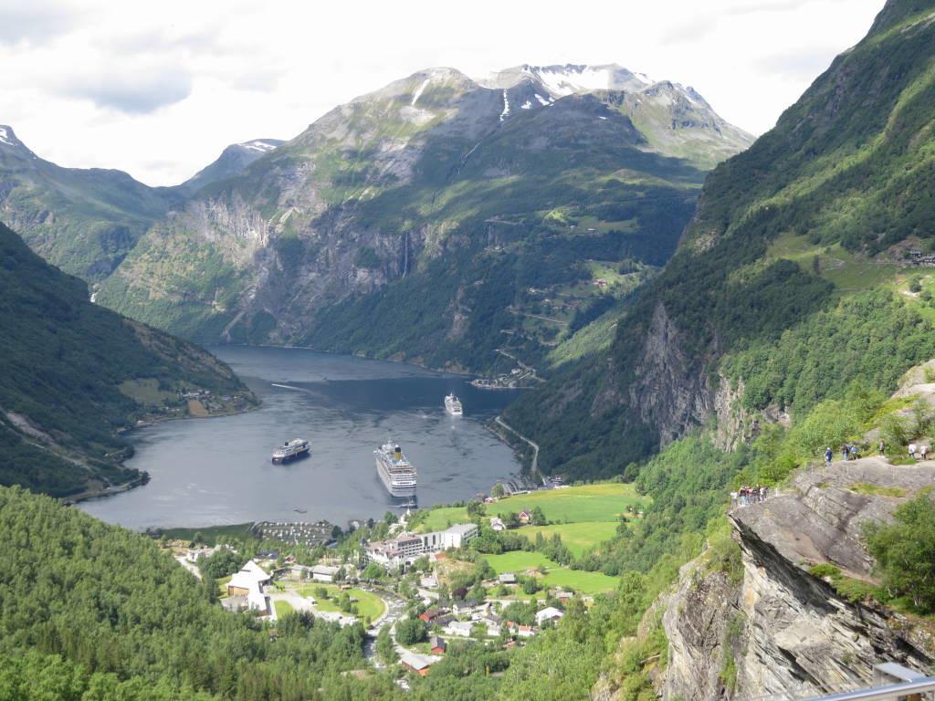 Fiorde de Geiranger o mais belo fiorde da Noruega