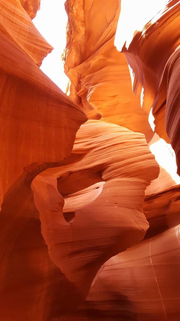 Cabeça de mulher com cabelo ao vento - Dicas do Antelope Canyon