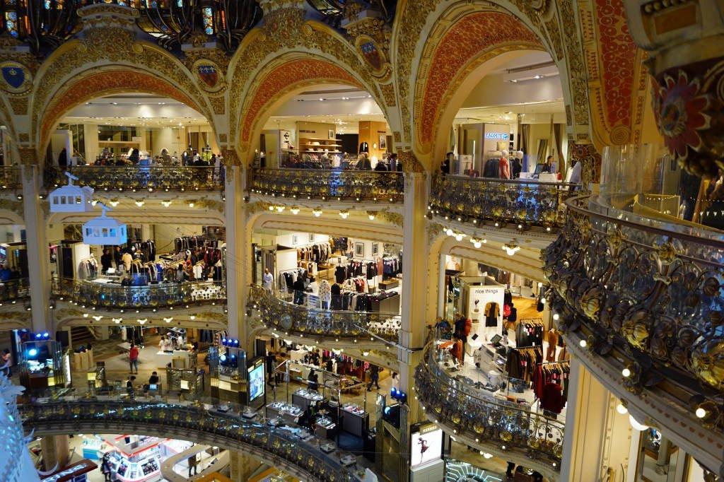Galeries Lafayette - Pontos turísticos de Paris - Roteiro 5 dias