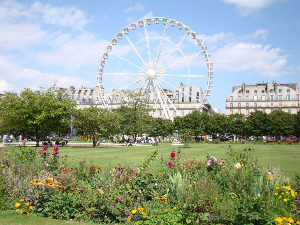 Jardim das Tulherias - Roteiro Paris 5 Dias - Pontos Turísticos