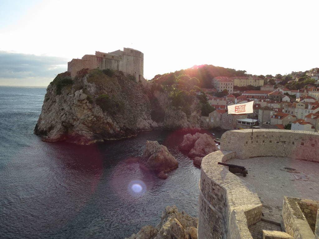 Forte Lovrijenac visto da muralha