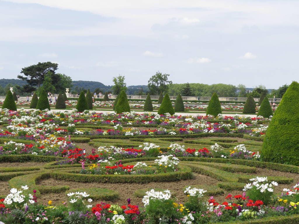 O Palácio de Versalhes França no verão