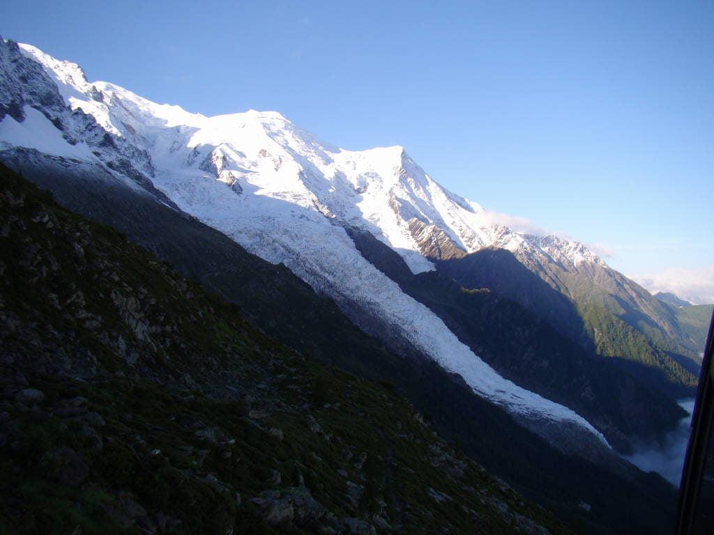 Vista da estação intermediária - O que fazer em Chamonix França