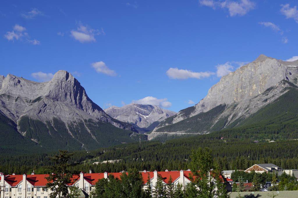 Vista do nosso apartamento em Canmore - Lago Moraine Canadá - Moraine Lake Canadá