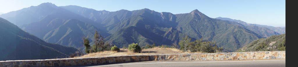 Hospital Rock Overlook - Parque Nacional da Sequoia Califórnia