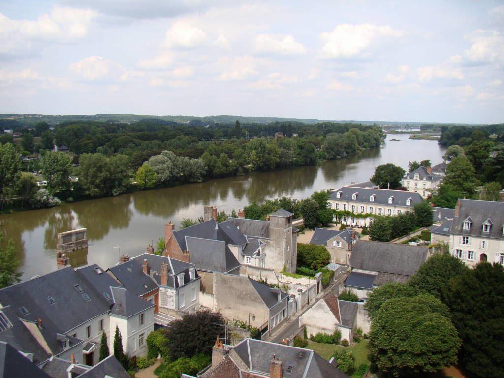 Rio Loire visto do Castelo d'Amboise - Castelos na França - Os 5 Top no Vale do Loire