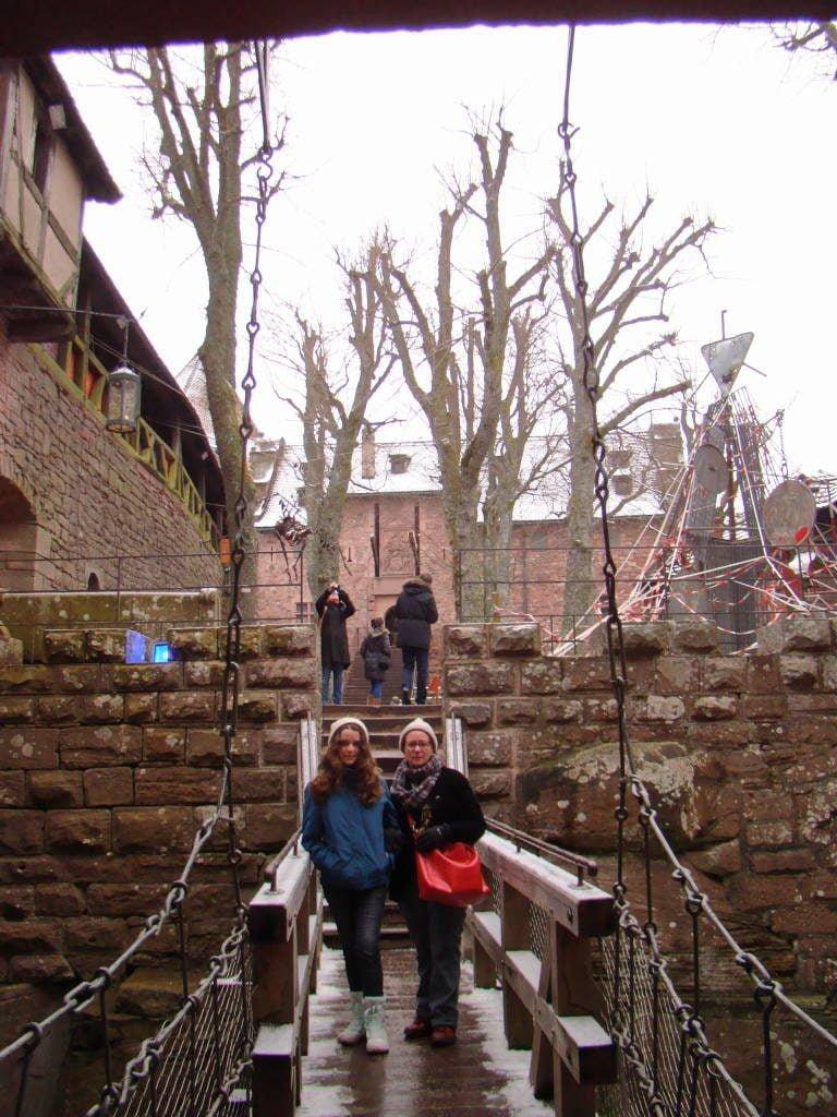 Castelo de Haut-Koenigsbourg - Rota do Vinho da Alsácia França no Natal