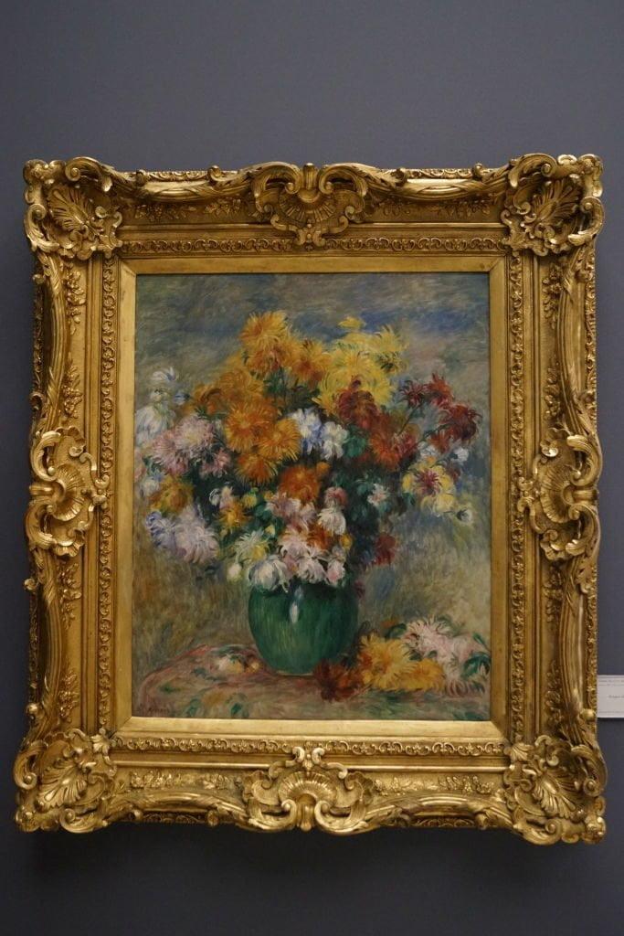 Vaso de Crisântemos, Renoir - O que fazer em Rouen França