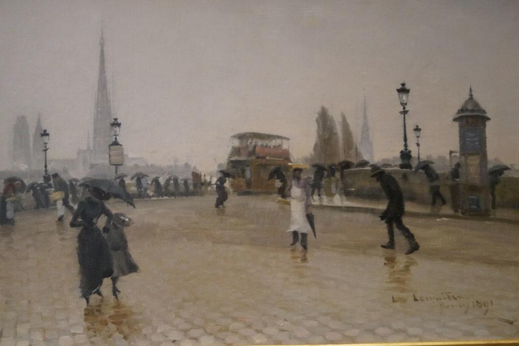 Le Pont Corneille à Rouen, Temps de Pluie 1881, Lemaître - O que fazer em Rouen França