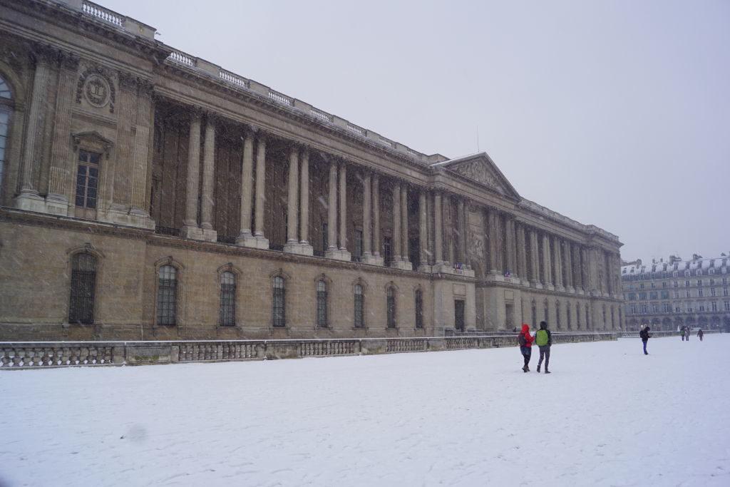 Colonnade de Perrault - Paris no inverno com neve!