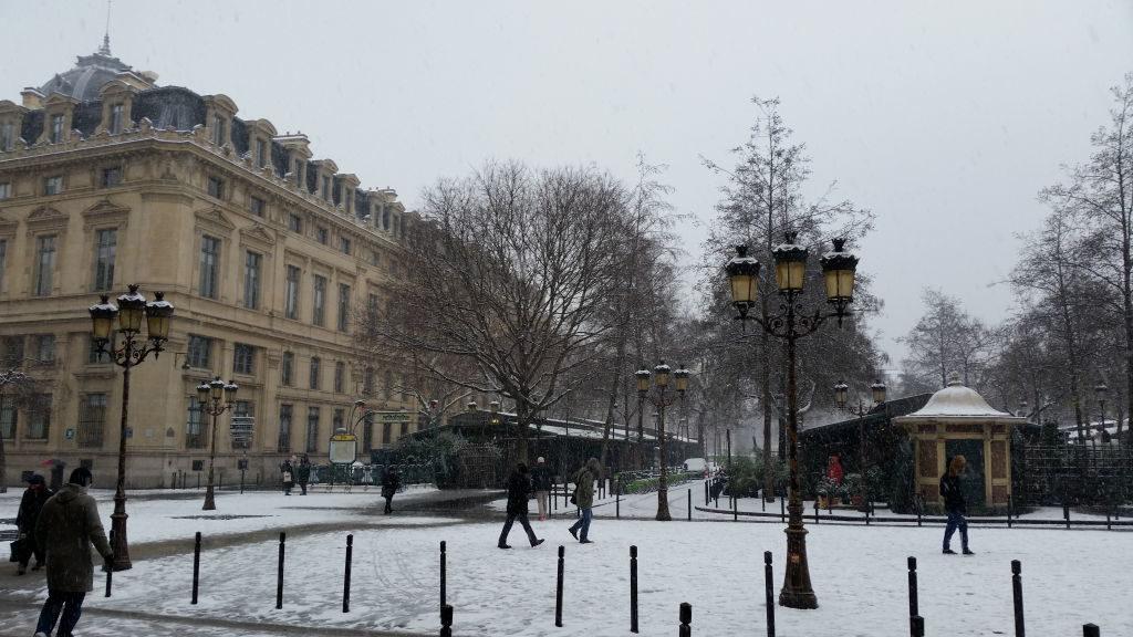 Mercado das Flores - Viajar para Paris no inverno com neve!