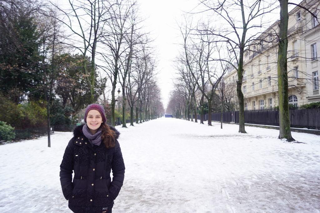 Champ de Mars - Viajar para Paris no inverno com neve!