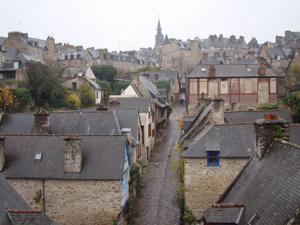Vista da muralha - Dinan França - Uma das mais belas cidades da Bretanha