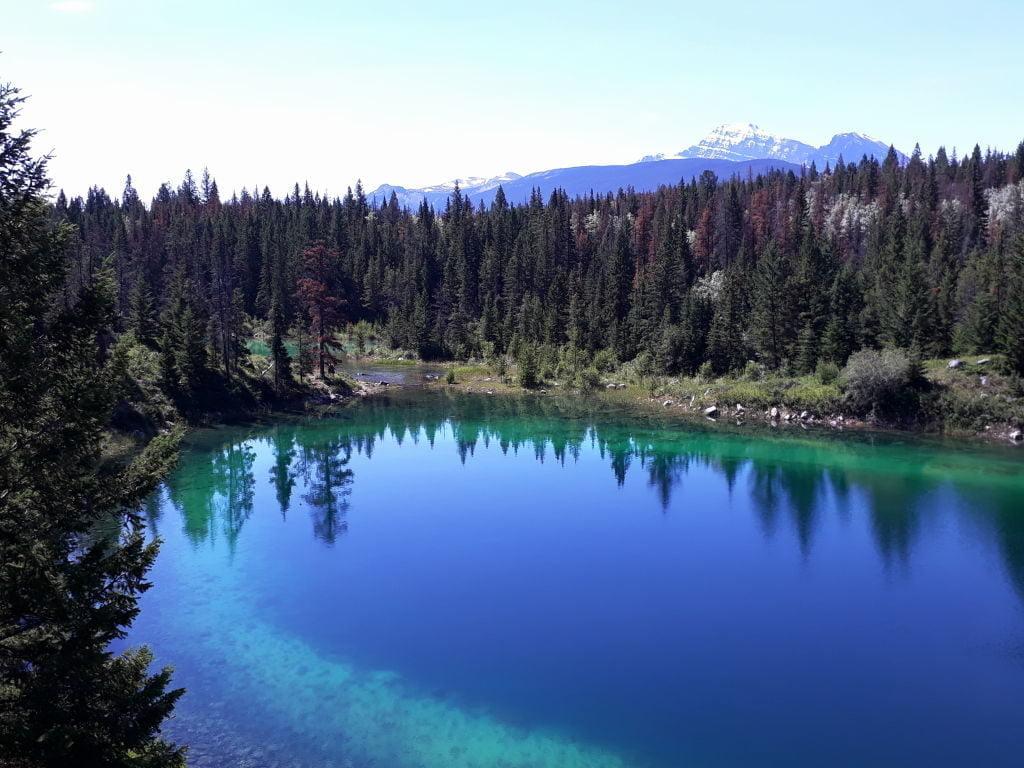 3º Lago - Vale dos 5 Lagos - O que fazer no Parque Nacional Jasper Canadá