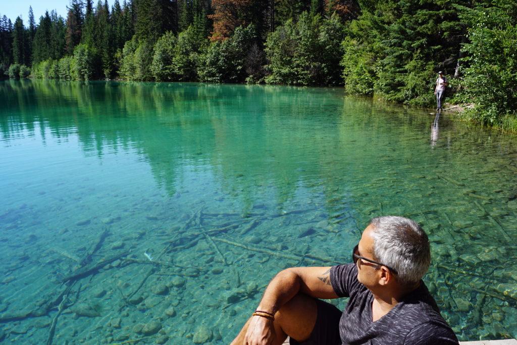 5º Lago na Trilha Vale dos 5 Lagos - O que fazer no Parque Nacional Jasper Canadá