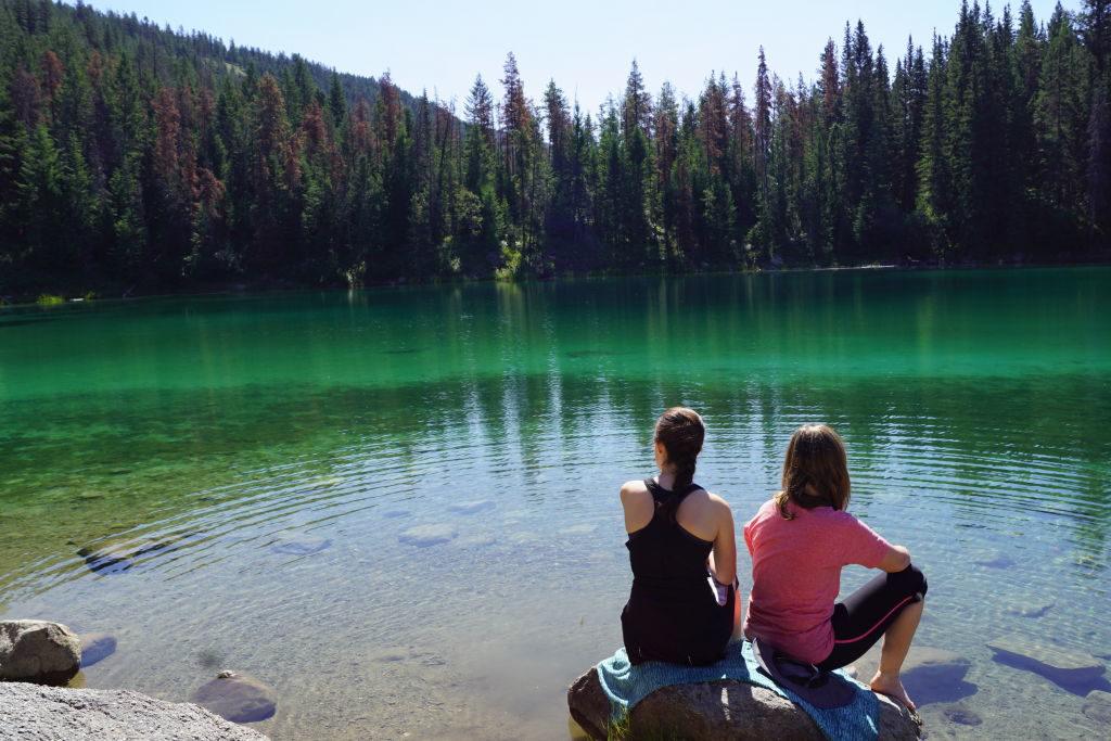 4º Lago no Vale dos 5 Lagos - O que fazer no Parque Nacional Jasper Canadá