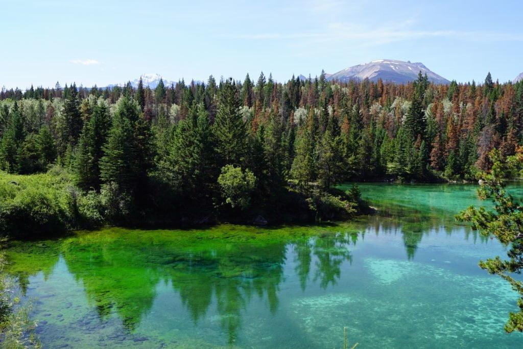 2º Lago - Vale dos 5 Lagos - O que fazer no Parque Nacional Jasper Canadá