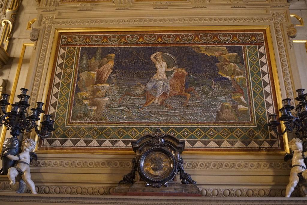 Mosaico nos Grandes Apartamentos - O Castelo de Chantilly França vale a pena?