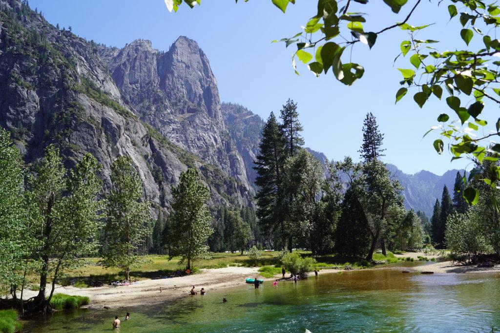 Vista da Swinging Bridge - O que fazer no Parque Nacional Yosemite na Califórnia